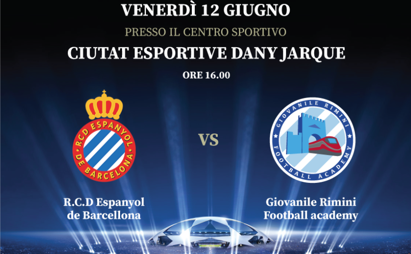 7° International Football tour – R.C.D. Espanyol de Barcellona vs Giovanile Rimini Football Academy