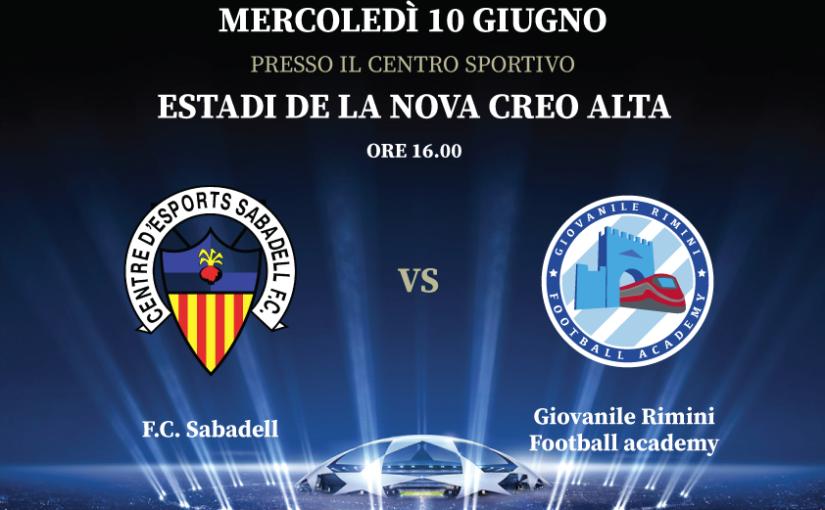 7° International Football tour - F.C. Sabadell vs Giovanile Rimini Football Academy