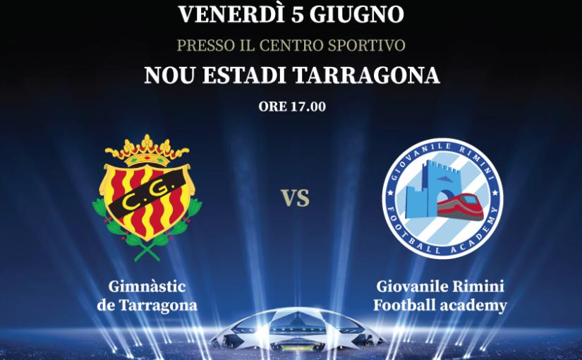 7° International Football tour - Gimnàstic de Tarragona vs Giovanile Rimini Football Academy